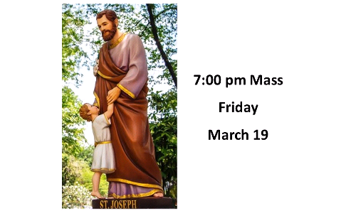 Solemnity of St. Joseph Mass - March 19