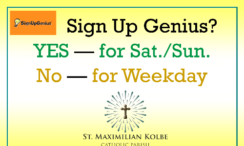 MASS SIGN UP for WEEKENDS