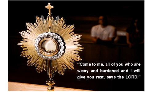 Important - Weekend of May 8-10 Adoration