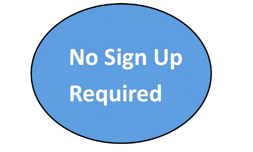 Sign Up NO LONGER Required